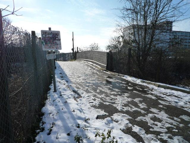 Glade Lane Foot bridge over the Brentford Branch Line