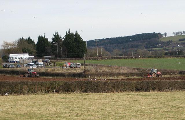Ploughing in progress