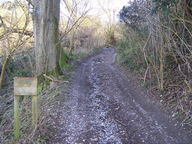 Bridleway leads into Hucking Wood Estate