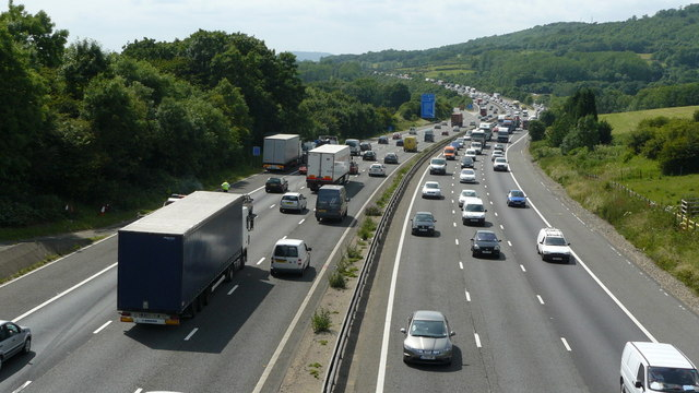 M25 Motorway, Near Godstone