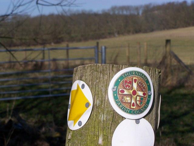 Thurnham Parish Council Footpath marker