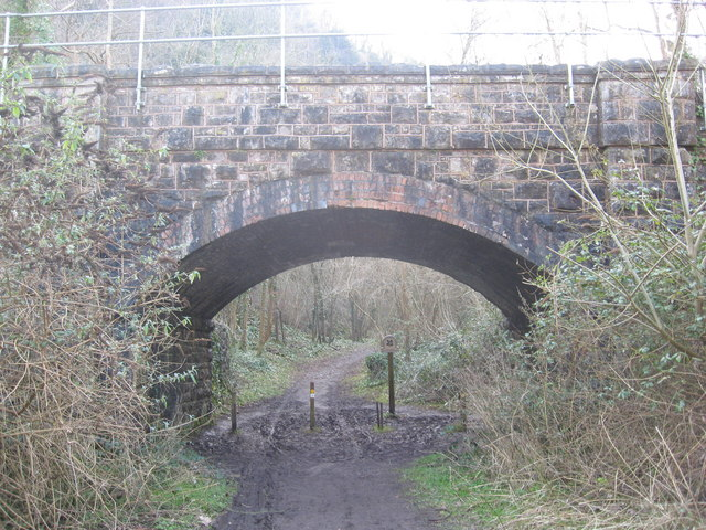 Railway Arch at the foot of Nightingale Valley, Leigh Woods