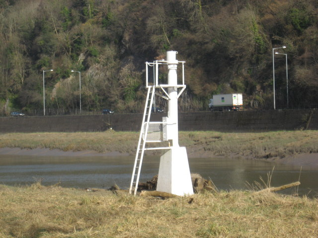 Navigation marker in the Avon Gorge