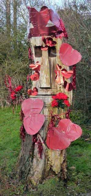 Tree sculpture on Valentine's Day