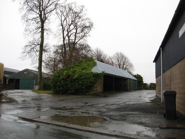 Farmyard off the main road at Chirnsidebridge