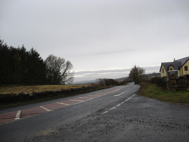 Looking westwards on the A6105