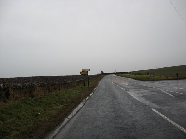 The A6105 in Berwickshire