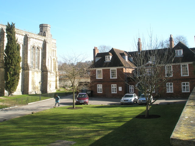 View from Dean Garnier's Garden over to the south-east corner of Winchester Cathedral
