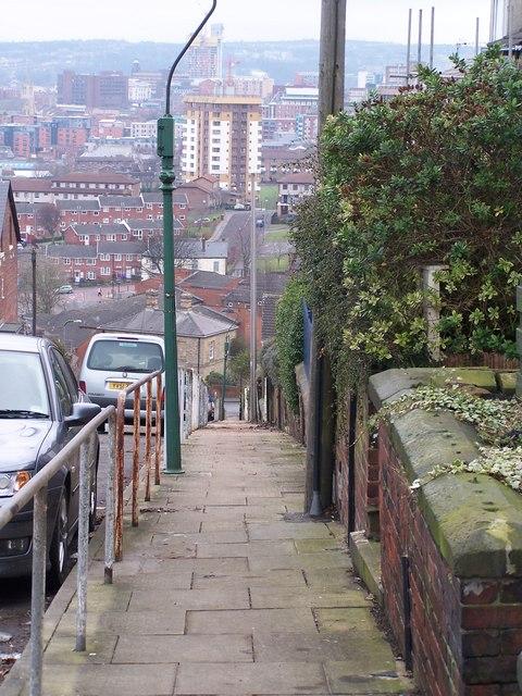 Footpath On Blake Street, Sheffield