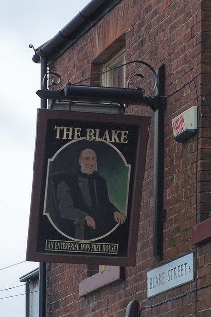2009 Sign for The Blake Pub, Blake Street, Walkley, Sheffield