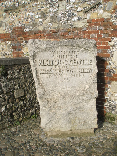 Inscription outside the Visitors'Centre at Winchester Cathedral