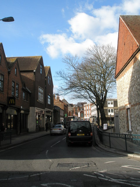 Looking westwards along St George's Street