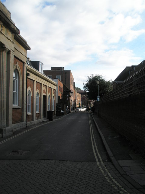 Looking eastwards along Market Lane