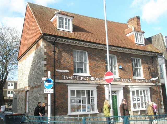 Offices of the Hampshire Chronicle in Upper Brook Street
