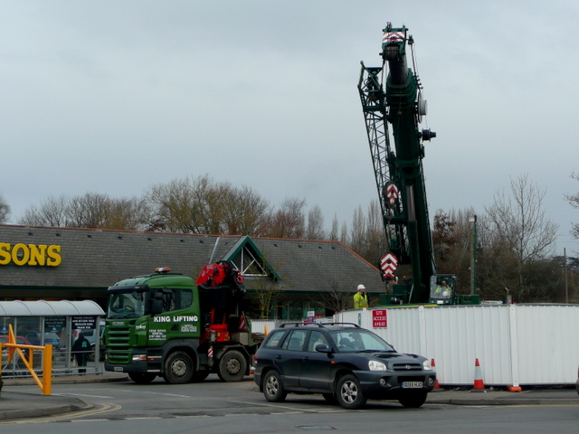 Removing the heavy equipment
