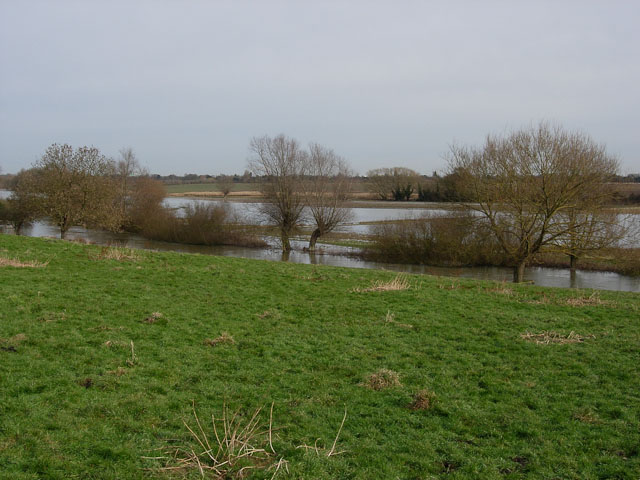 Flooded fields by the Cam