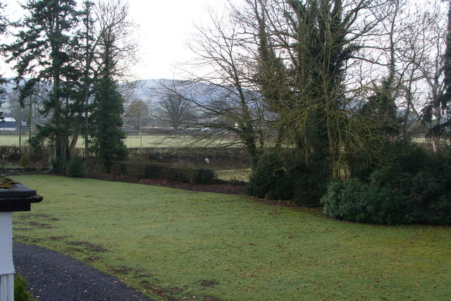 Maes Mawr Hall hotel grounds and beyond