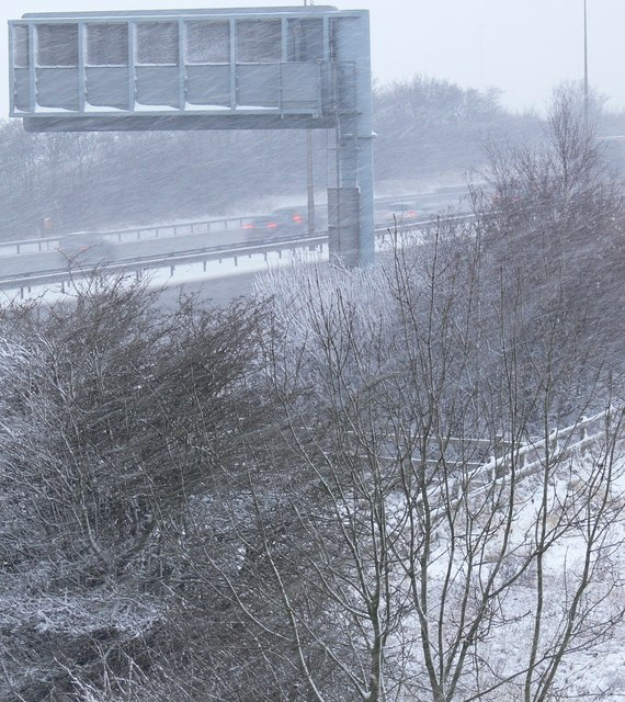 View towards a snowy M1