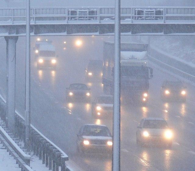 Horrendous driving conditions