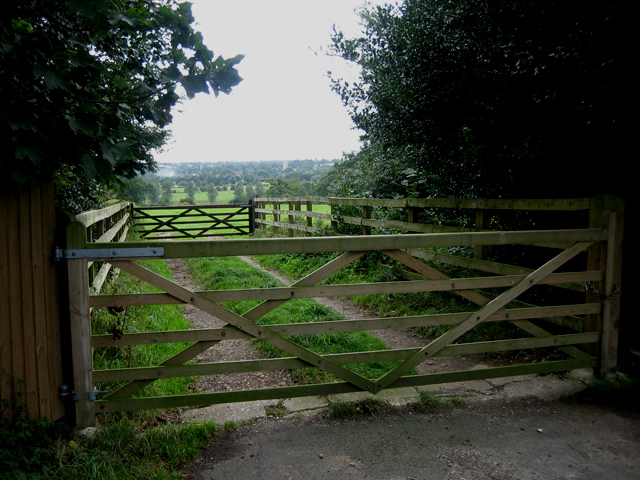 Double gates overlook Dedham Vale