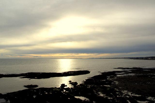 View of coastline at Arbroath