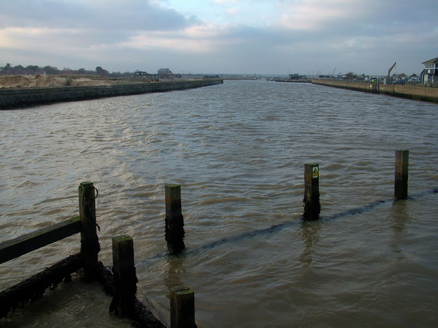 Looking up river to Southwold harbour