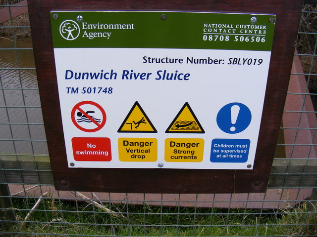 Dunwich River Sluice Sign