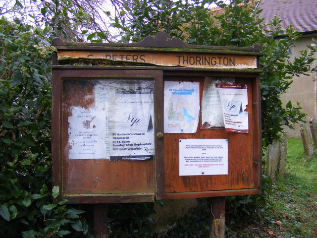 St.Peter's Church, Thorington Notice Board