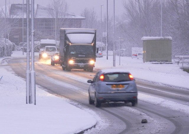 Tricky driving conditions along Meridian East