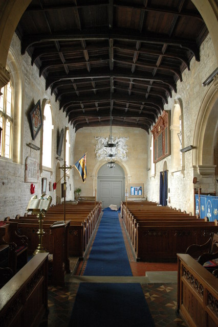 Interior of Temple Guiting Church