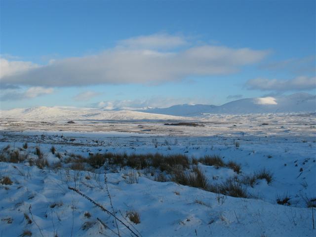 Rannoch Moor winter scene