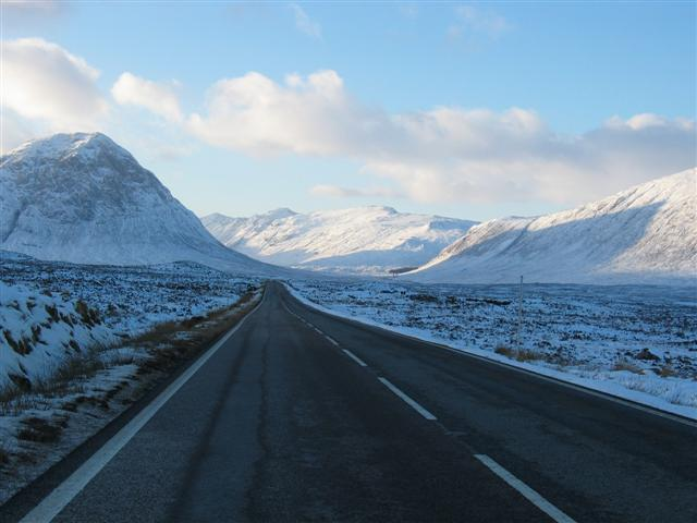 A82 with Stob Dearg to the left