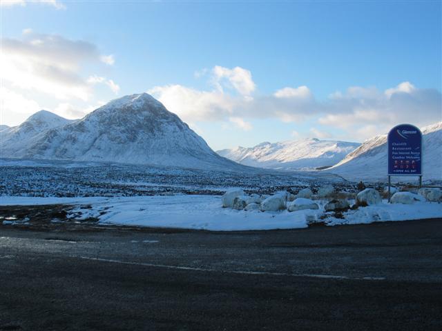 Access road to the Glencoe Ski Centre