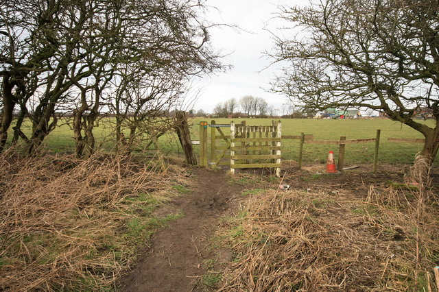 Public Footpath and Gate
