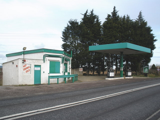 Deserted petrol station at Stopgate