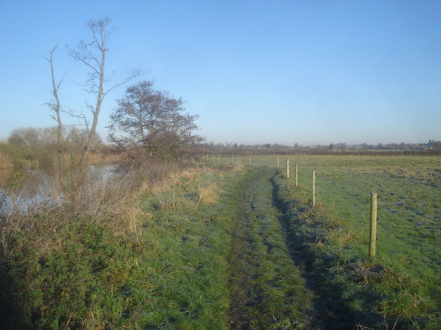 Riverside path opposite the sewage works