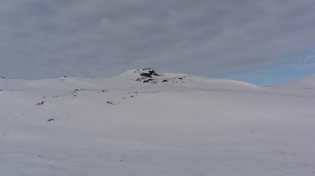 Outcrop near Aberscross Hill