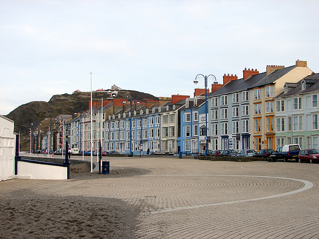 Aberystwyth Promenade - Start of Aberystwyth to Borth coastal path