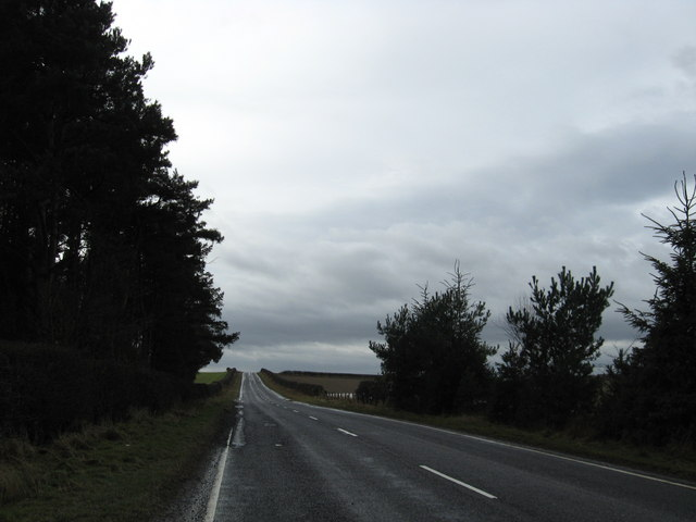 The A698 heading in the direction of East Newbiggin