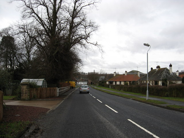 Minor road heading in to Norham