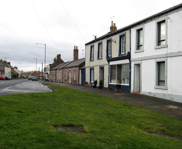 A view of the north side of Norham's main street