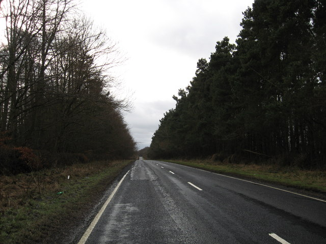 The A698 heading to Cornhill