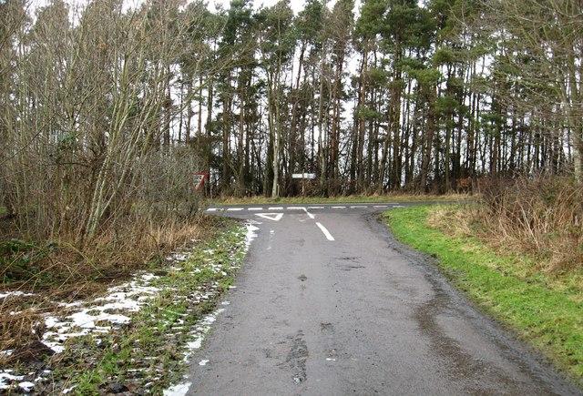 Minor road meets the A698