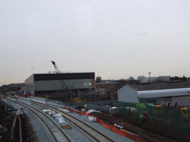 Construction on the East London Line, near New Cross