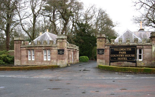 The entrance gates to Tillmouth Park
