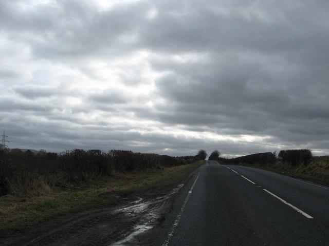 The A698 heading towards Cornhill