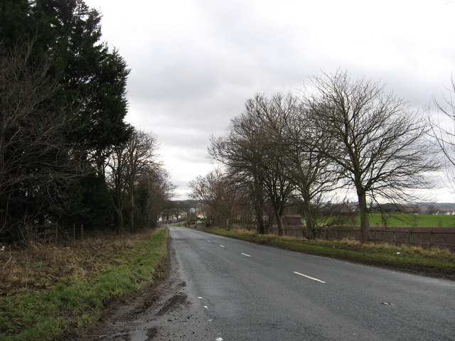 The A698 approaching Cornhill