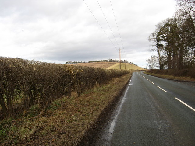 The A698 heading in the direction of Ednam East Mill