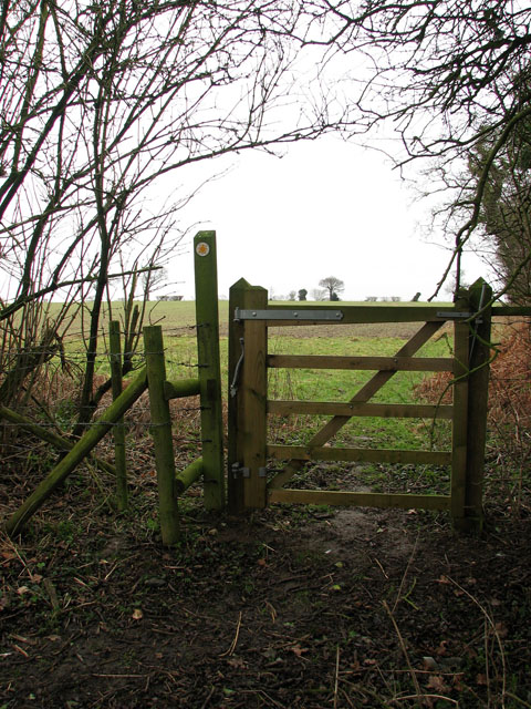 Pedestrian gate on footpath