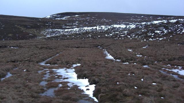 Moorland behind Duchary Rock